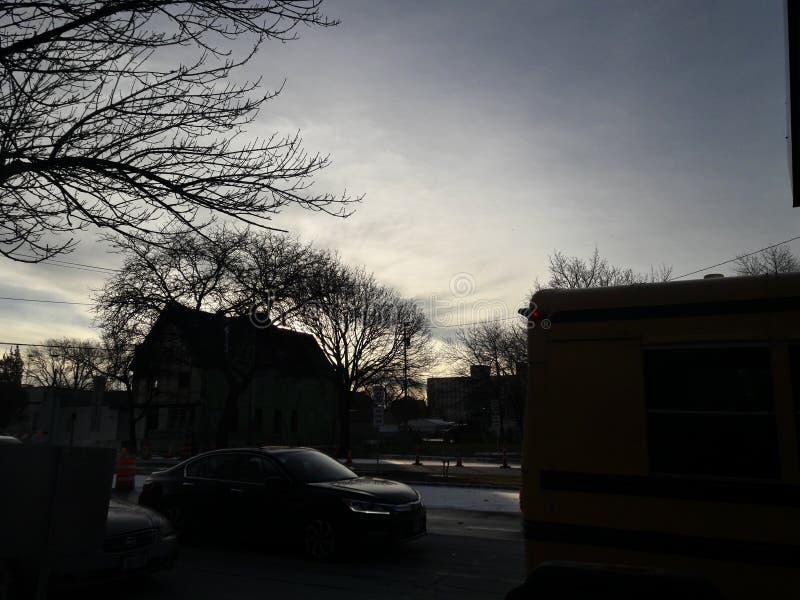 Нерезкость светов неба зимы стоковое фото