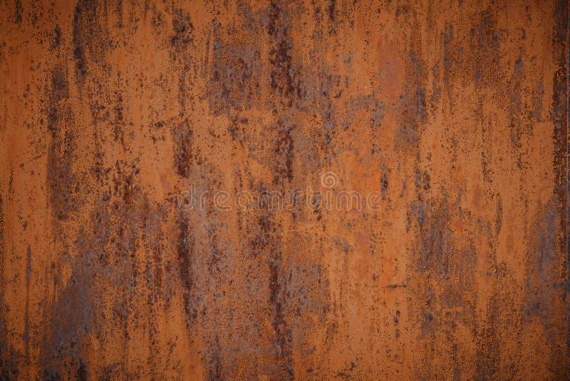 Несенная темнотой ржавая предпосылка текстуры металла стоковое изображение rf
