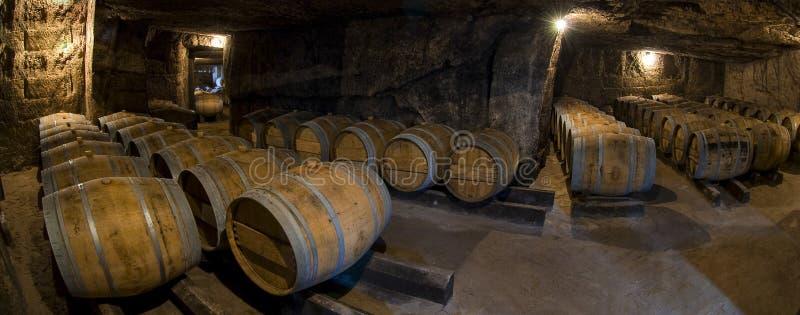 Несется старый погреб, винодельня Бордо стоковая фотография