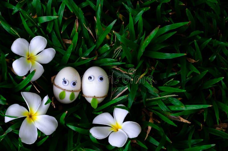 Несколько пасхальное яйцо пряча в зеленой траве на парке стоковая фотография