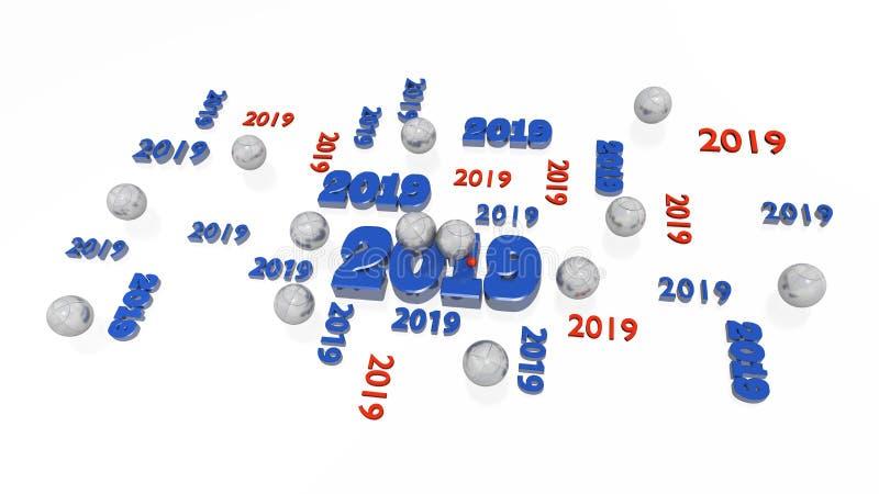 Нескольк игра в петанки 2019 дизайнов с некоторыми шариками иллюстрация вектора
