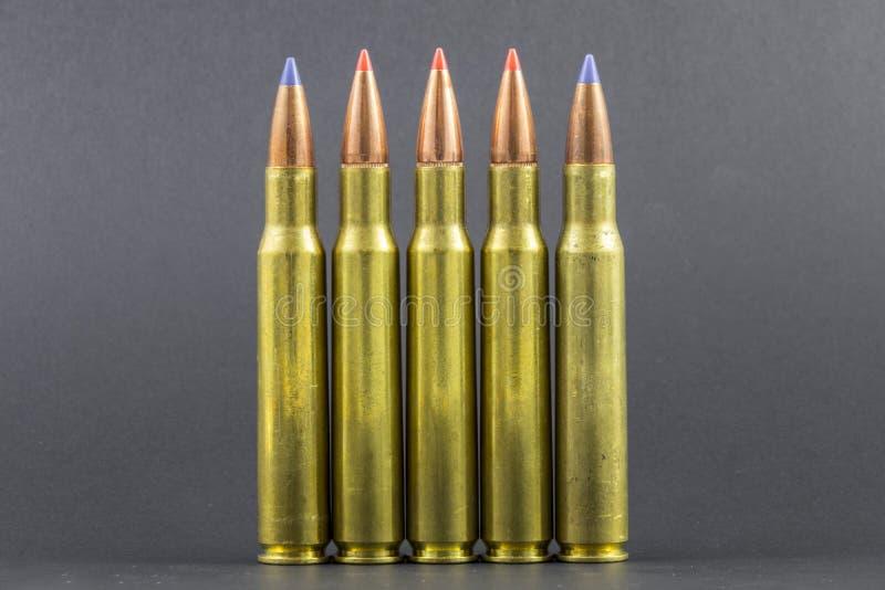 Несколько баллистических кругов винтовки подсказки стоковые фотографии rf