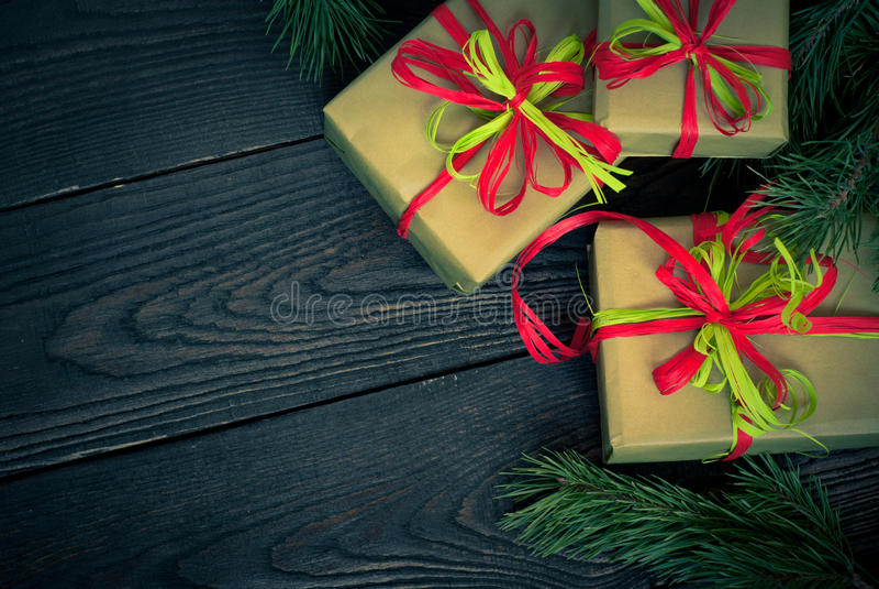 Несколько коробок подарков стоковая фотография rf