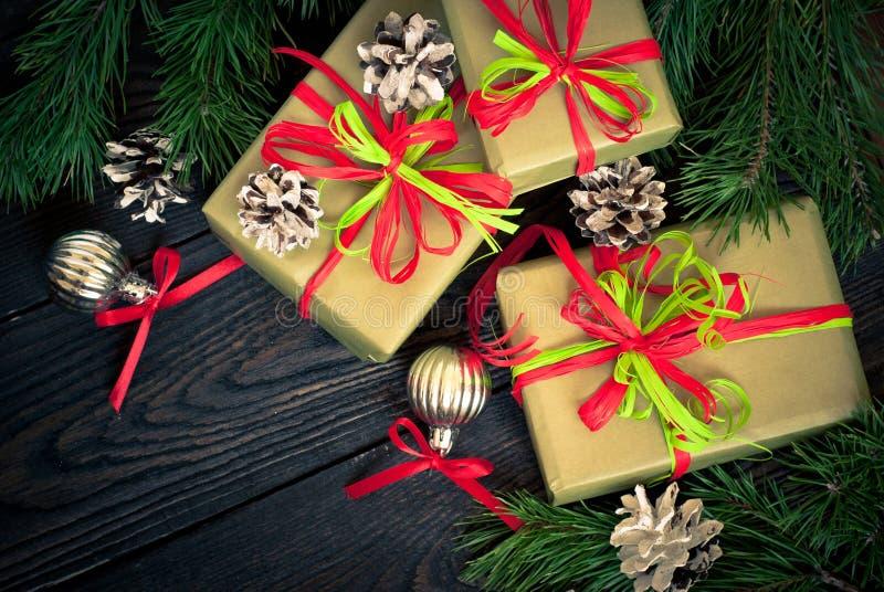 Несколько коробок подарков стоковое изображение