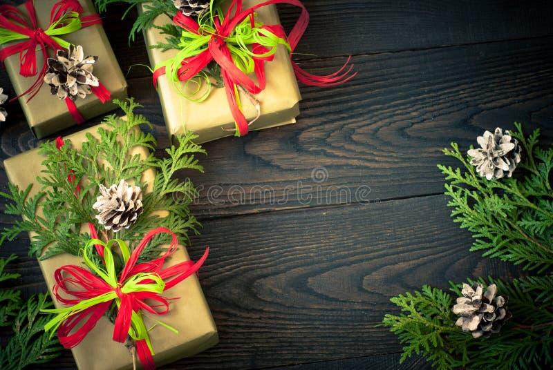 Несколько коробок подарков стоковые изображения rf