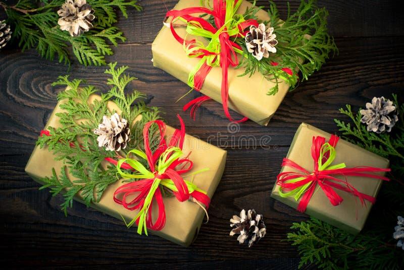 Несколько коробок подарков стоковое фото rf