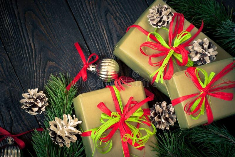 Несколько коробок подарков стоковое изображение rf