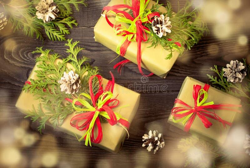 Несколько коробок подарков стоковая фотография