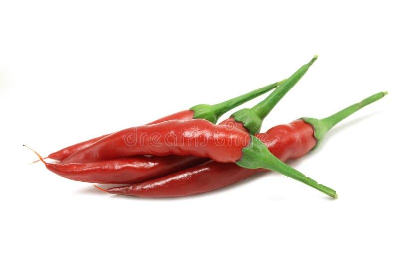 Несколько накаленных докрасна перцев chili стоковое изображение