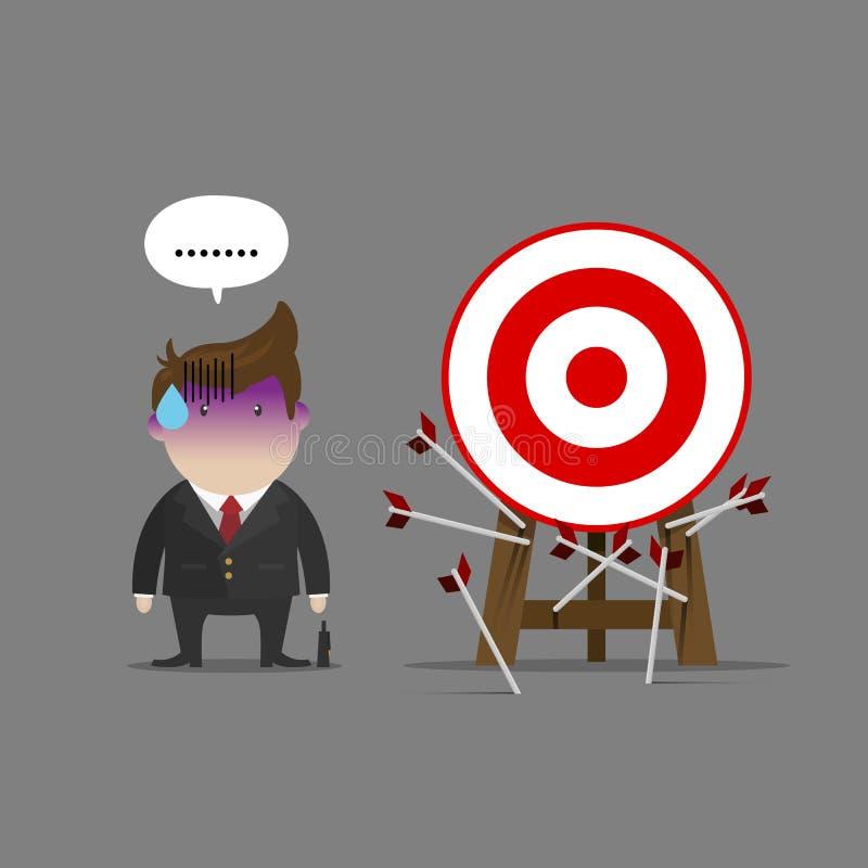 Несоосность бизнесмена вся цель бесплатная иллюстрация
