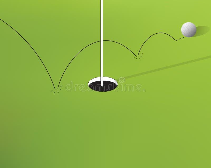 Несоосность гольфа иллюстрация штока