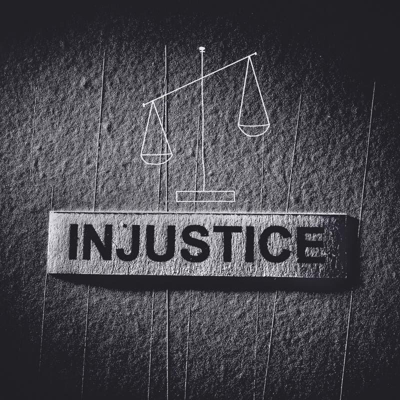 Несправедливость стоковая фотография rf