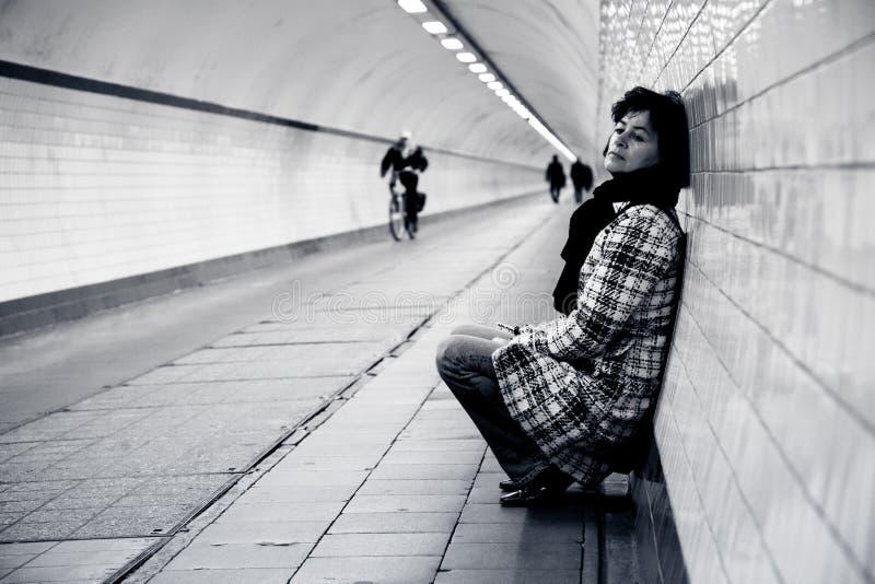 Несчастная женщина стоковое фото