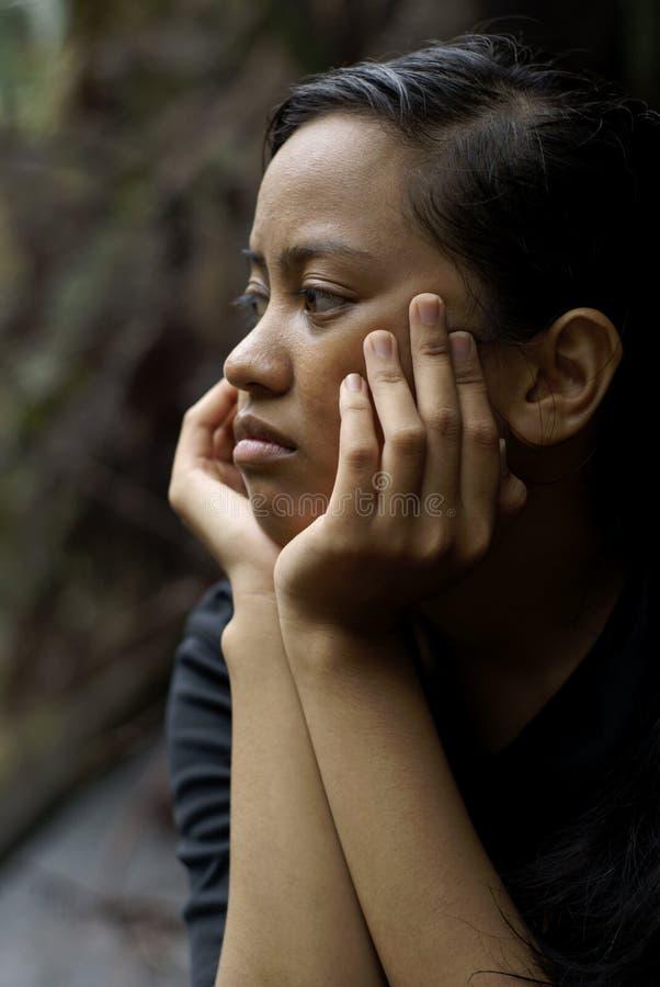несчастное азиатской девушки предназначенное для подростков стоковые изображения