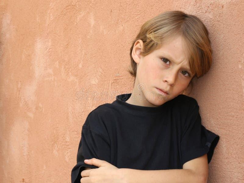 несчастное сиротливых проблем ребенка унылое стоковое фото rf