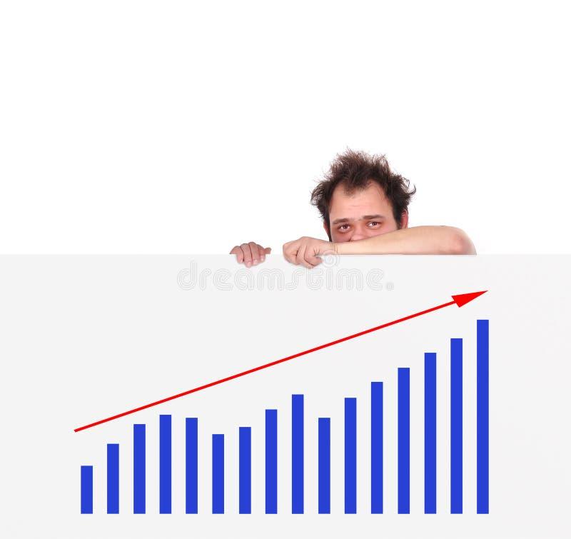Несчастные люди и диаграмма бесплатная иллюстрация