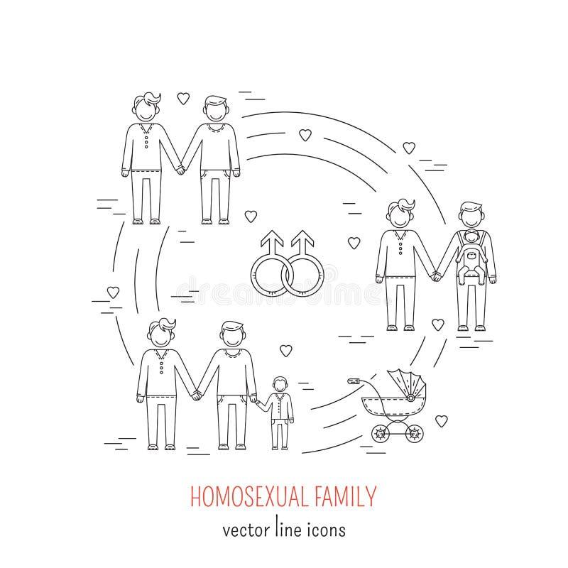 Нетрадиционная семья бесплатная иллюстрация