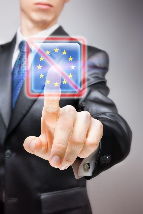 Нет к Европейскому союзу стоковая фотография