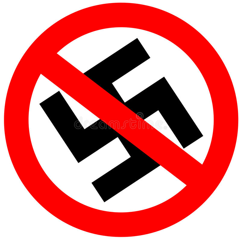 нет фашизма иллюстрация вектора