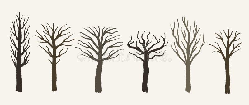 Неурожайные векторы дерева иллюстрация штока