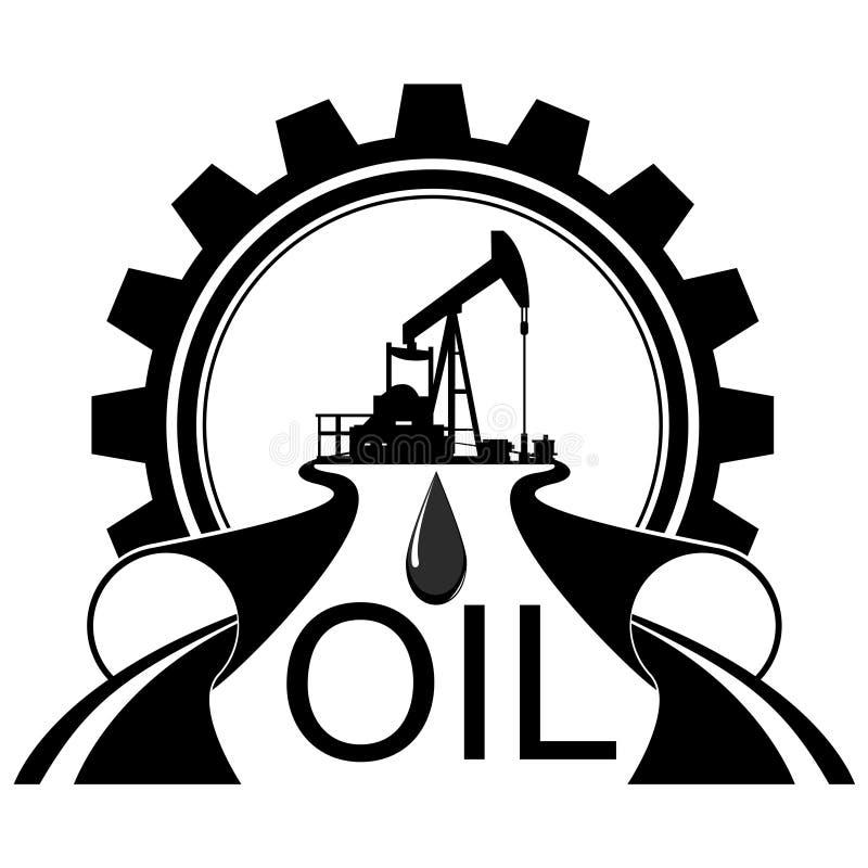 Нефтедобывающая промышленность значка иллюстрация штока