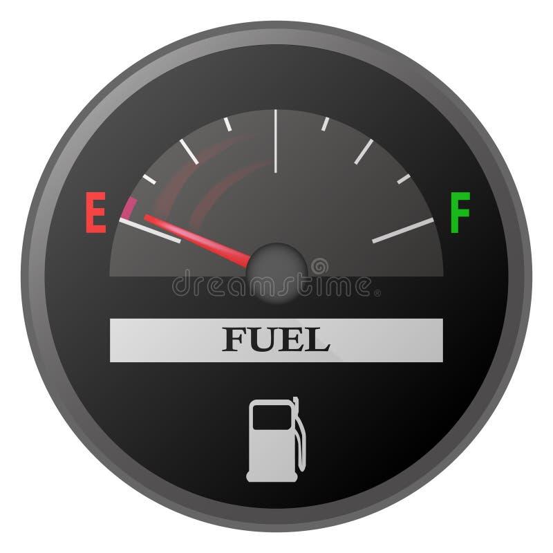 нефть метра датчика уровня горючего черточки автомобиля доски иллюстрация вектора