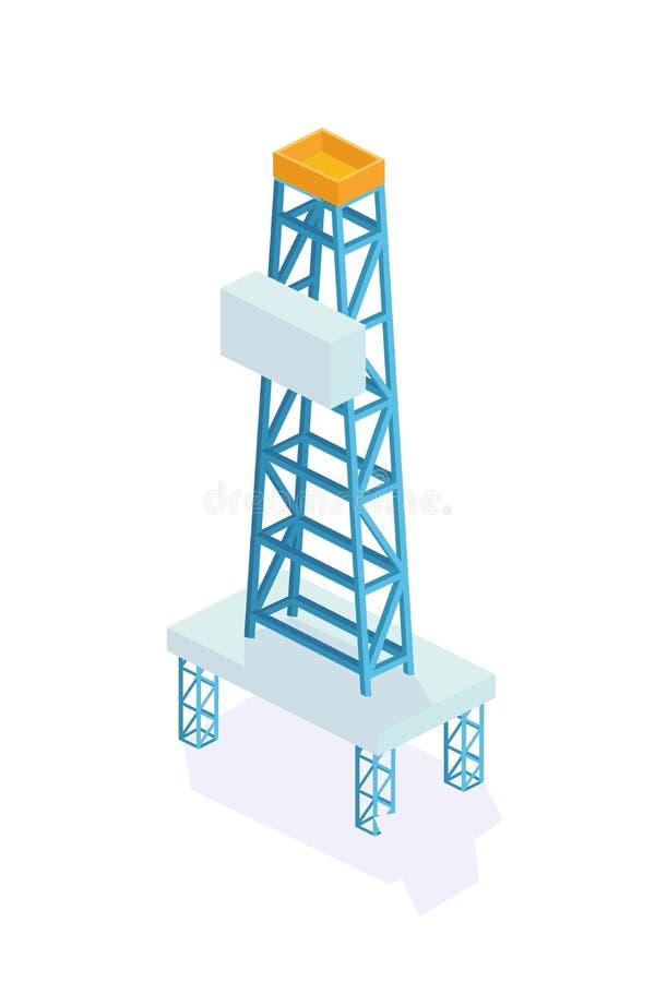 нефтяная вышка Извлечение и хранение минералов, сверлить колодцев бесплатная иллюстрация