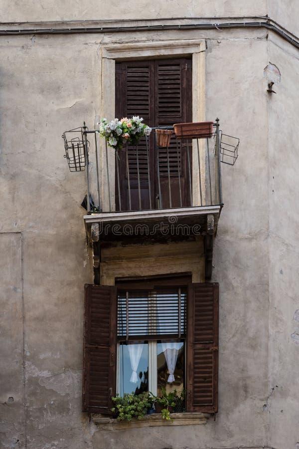 Нечестный балкон стоковая фотография