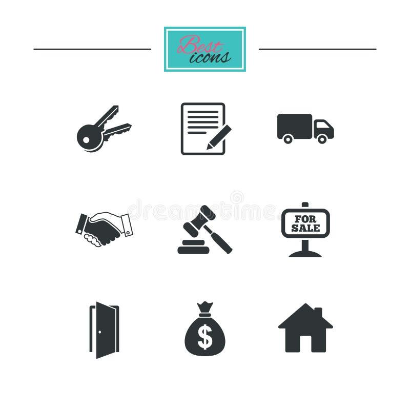 Download Недвижимость, значки аукциона Рукопожатие, для продажи Иллюстрация вектора - иллюстрации насчитывающей автомобиль, классицистическо: 81805229