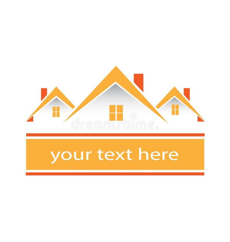 Недвижимость общины городка расквартировывает логотип бесплатная иллюстрация