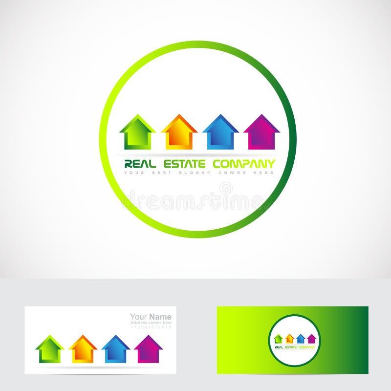 Недвижимость расквартировывает логос иллюстрация вектора