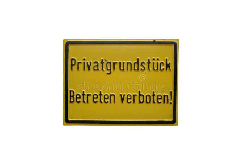 Не войдите в, частная собственность, знак информации на белой предпосылке стоковые изображения rf