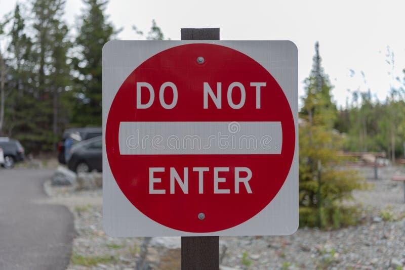 Не впишите знак стоковое фото