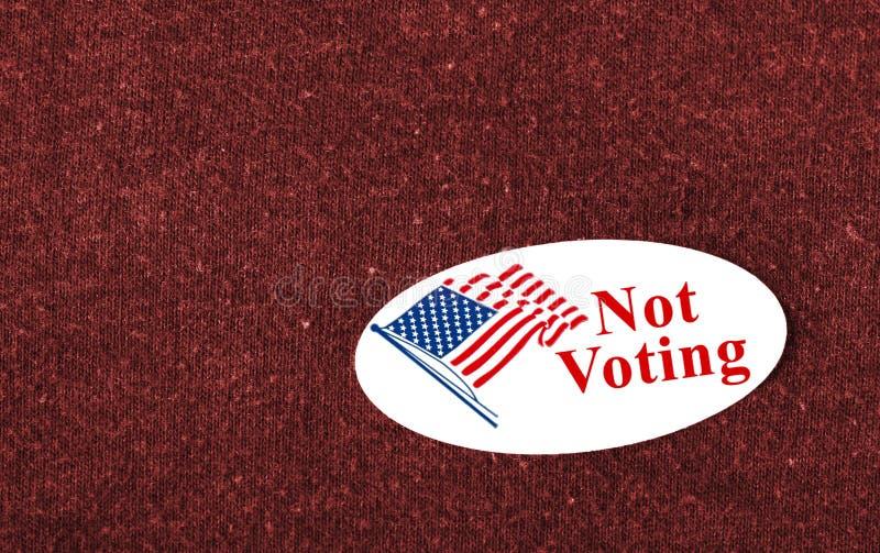 Не голосующ стоковая фотография rf