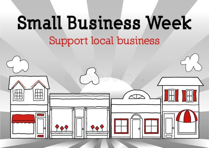 Неделя мелкого бизнеса, главная улица США иллюстрация штока