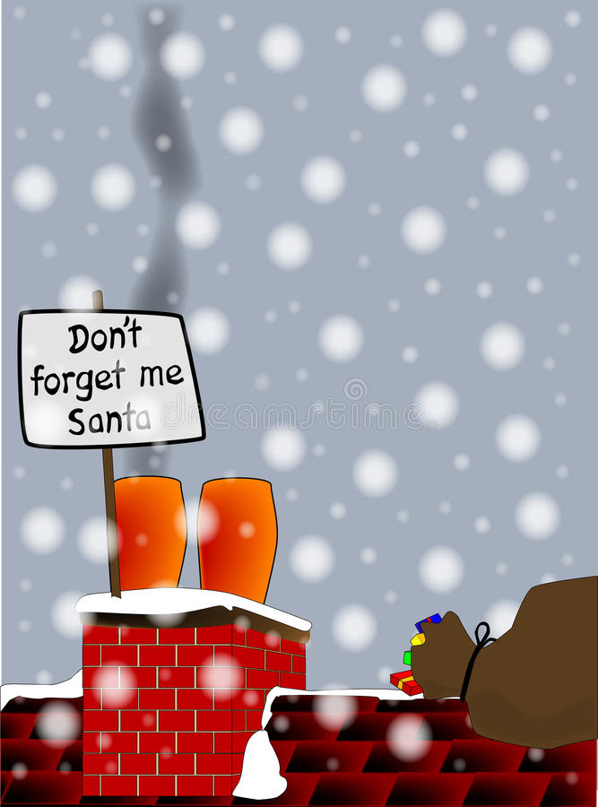 Не забудьте меня Санта бесплатная иллюстрация
