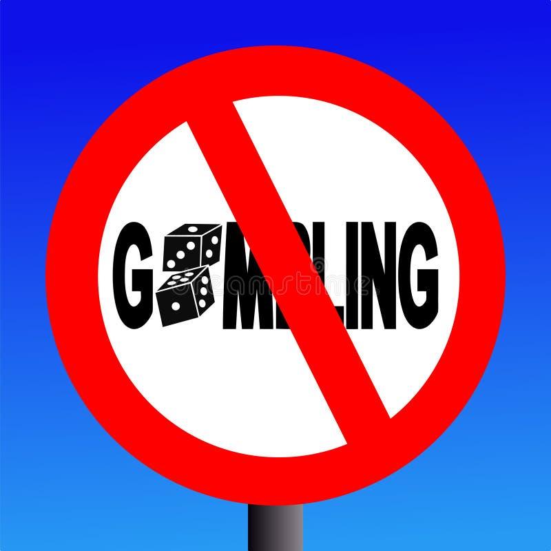 не играть в азартные игры никакой знак бесплатная иллюстрация