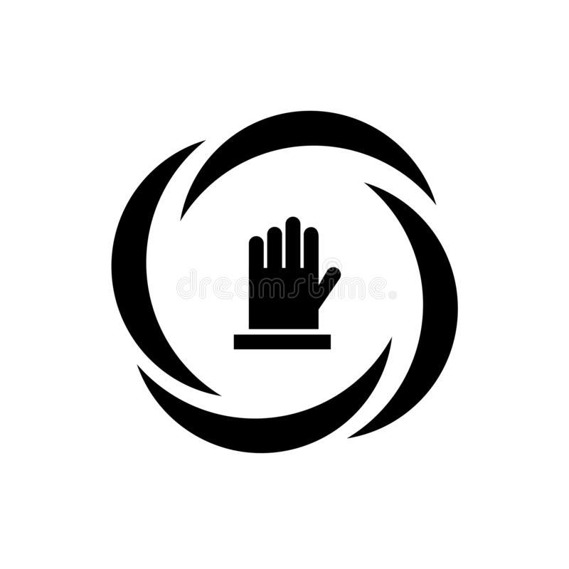 Не касайтесь знаку вектора значка и символ изолированный на белой предпосылке, не касается концепции логотипа иллюстрация вектора