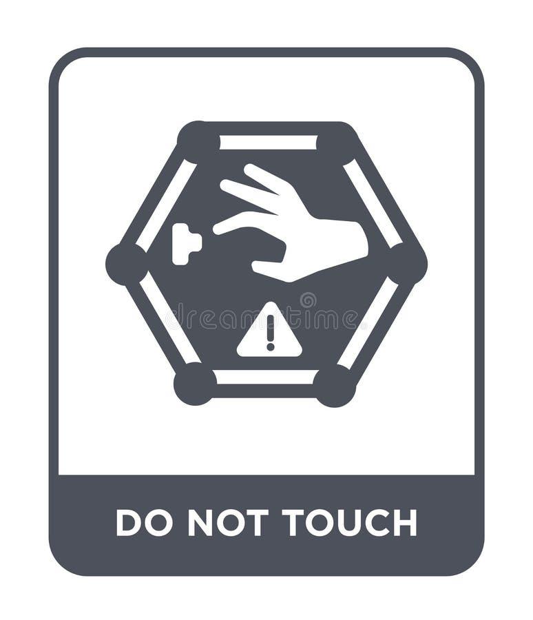 не касайтесь значку в ультрамодном стиле дизайна Не касайтесь значку изолированному на белой предпосылке не касайтесь значку вект иллюстрация вектора