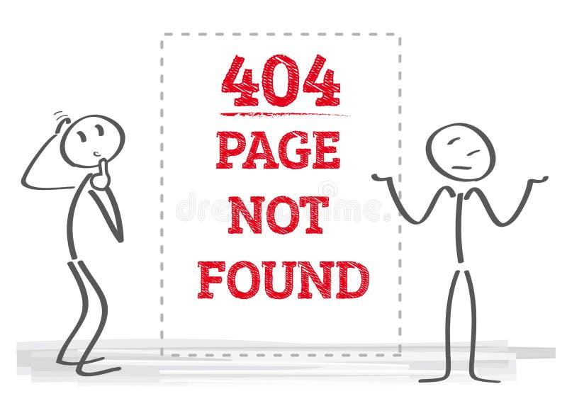 не найденная страница 404 - иллюстрация иллюстрация вектора