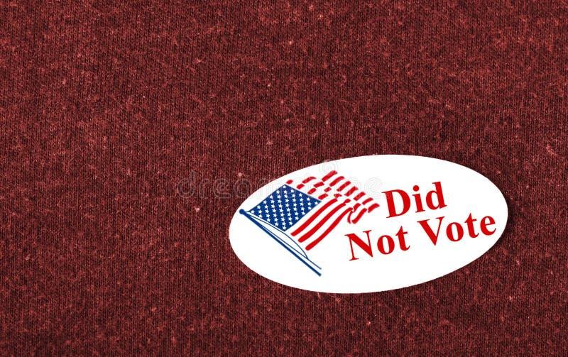 Не проголосовал стоковое изображение