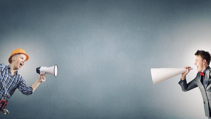 Не смогите услышать один другого стоковая фотография