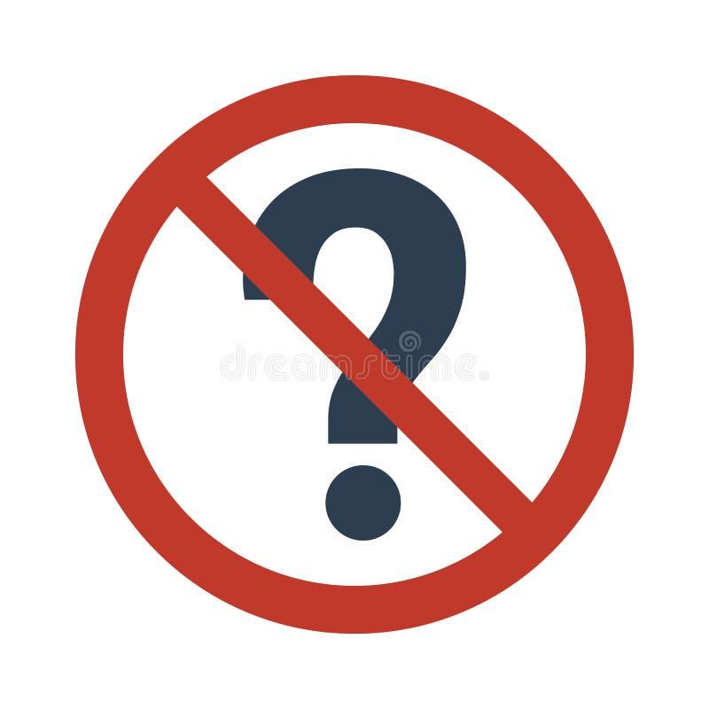 Не спросите знак вопросов на белой предпосылке иллюстрация штока