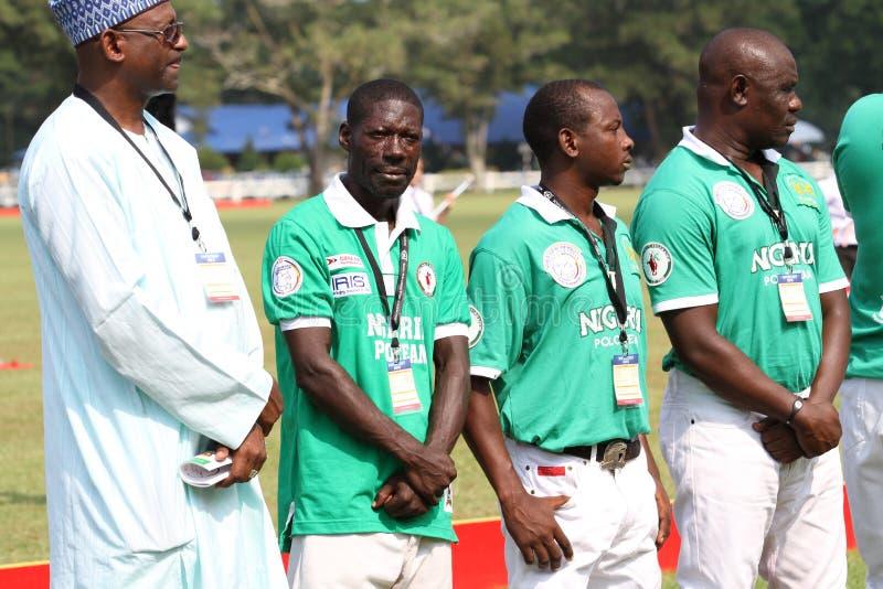 нигерийская команда поло стоковое фото rf