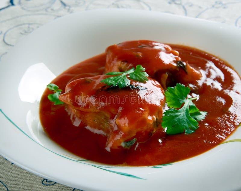 Нигерийское тушёное мясо рыб стоковая фотография rf