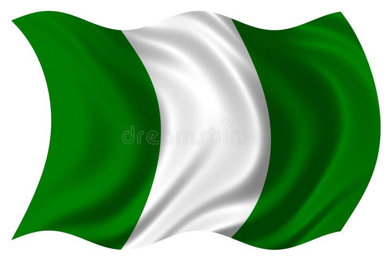 Нигерия изолированная флагом стоковые фото