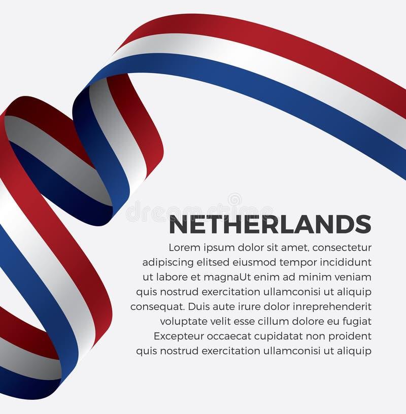 Нидерландский флаг для декоративного Предпосылка вектора стоковые фотографии rf