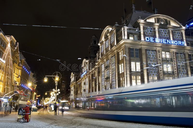 Нидерланды Амстердам запруды стоковое изображение rf