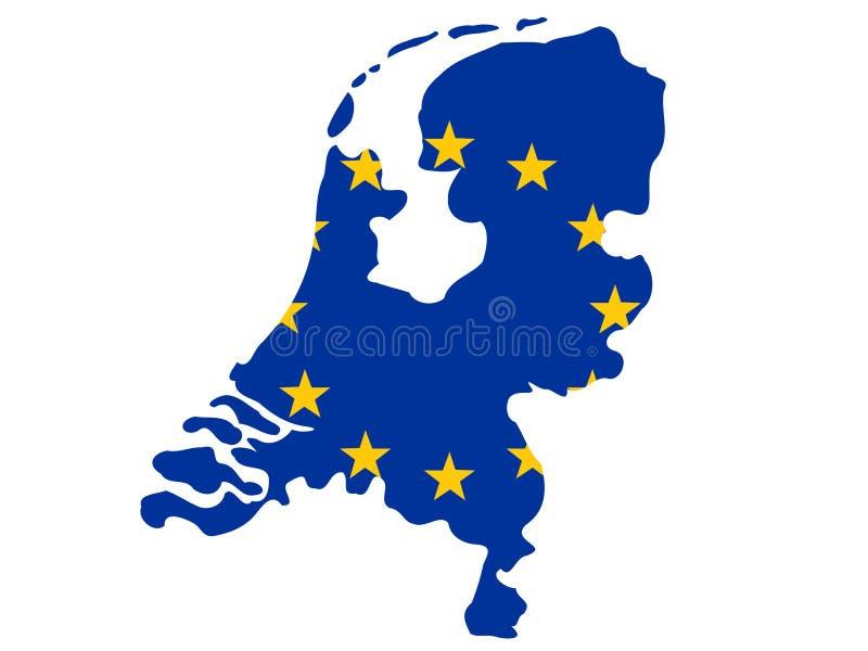 Нидерланды карты иллюстрация штока