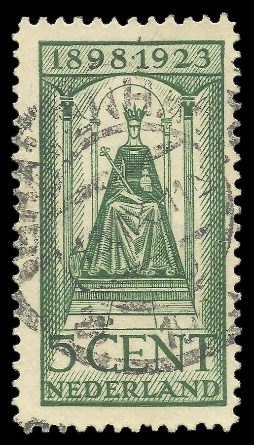 Нидерланды, ферзь Wilhelmina, юбилей царствования стоковые фотографии rf